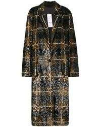 Ashish Checked Sequin-embellished Cotton Coat - Brown