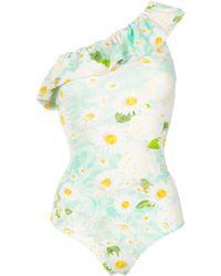 Isolda One Shoulder Swimsuit - Multicolor