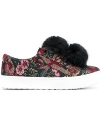 Sam Edelman Leya Pom Pom Sneakers - Black