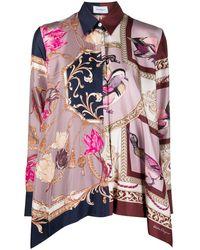 Ferragamo Блузка С Принтом - Розовый