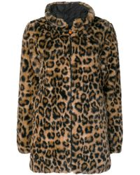 Save The Duck - Fury Faux Leopard Coat - Lyst