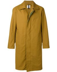 Santoni Concealed Button Coat - Yellow