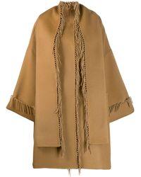 P.A.R.O.S.H. Tassel Cape Coat - Multicolor
