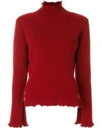 Libertine-Libertine Roll Neck Sweatshirt - Red