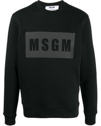 MSGM ロゴ スウェットシャツ - ブラック