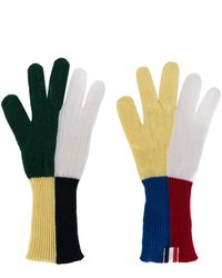 Thom Browne Checked Gloves - Multicolor