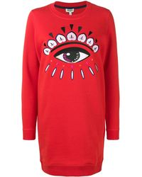 KENZO Eye Sweater Jurk - Rood