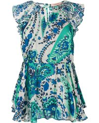 Twin Set Bluse mit Paisley-Print - Blau