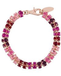 Vivienne Westwood Chunky Glass Crystals Necklace - Pink