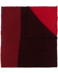 Daniel Andresen Colour-block Knit Scarf - Red