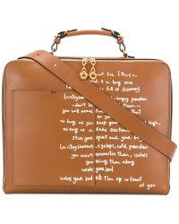 Tory Burch - Handwritten Detail Briefcase - Lyst