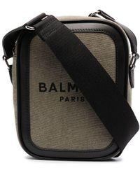 Balmain B-army 16 Crossbody Bag - Green