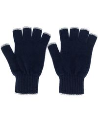 Pringle of Scotland Fingerlose Handschuhe - Blau