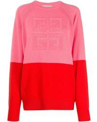 Givenchy Jersey 4G de punto de dos tonos - Rosa