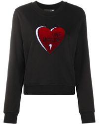 Love Moschino ハートパッチ スウェットシャツ - ブラック