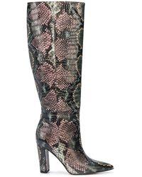 Sam Edelman 100mm Raakel Snakeskin-effect Boots - Pink