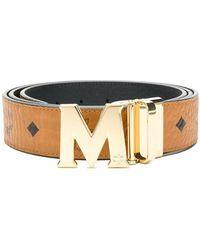 MCM - M Buckle Logo Print Belt - Lyst
