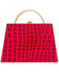 Rocio Constance Crocodile-effect Tote Bag - Red