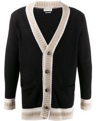 Ballantyne Contrast-trim Cardigan - Black