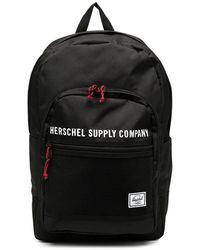 Herschel Supply Co. ロゴ バックパック - ブラック