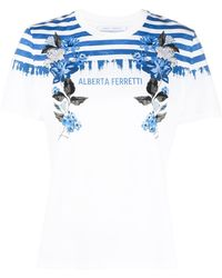 Alberta Ferretti ロゴ Tシャツ - ホワイト