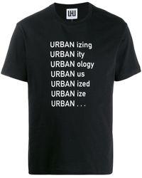 Les Hommes プリント Tシャツ - ブラック