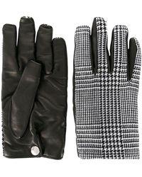 Alexander McQueen Перчатки В Ломаную Клетку - Черный