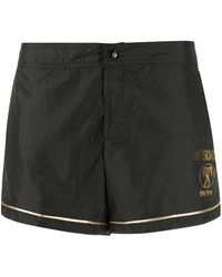 Moschino Logo Print Swim Shorts - Black