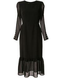 Tu Es Mon Tresor ギンガムチェック ドレス - ブラック