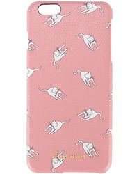 Miu Miu - Cat Print Iphone 6 Plus Case - Women - Leather - One Size - Multicolor