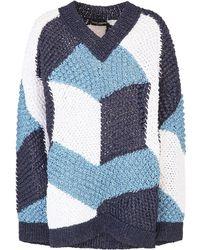 Dolce & Gabbana オープンニット セーター - ブルー