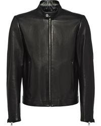 Prada レザージャケット - ブラック