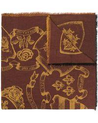Kent & Curwen - Écharpe à motifs intarsia - Lyst
