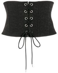 Pinko Wide Corset Belt - Black