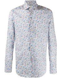 Etro Camisa con motivo de cachemira de manga larga - Blanco