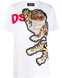 DSquared² - タイガー Tシャツ - Lyst