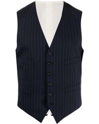 Polo Ralph Lauren Striped Wool Waistcoat - Blue