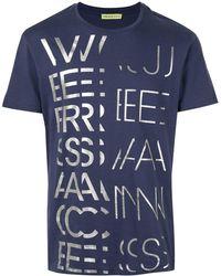 Versace Jeans - メタリックロゴ Tシャツ - Lyst