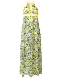 M Missoni - Floral Flared Maxi Dress - Lyst