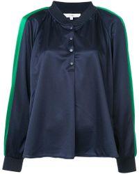 Tibi - Tech Pique Raglan Pullover - Lyst
