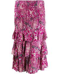Étoile Isabel Marant Paisley-Rock mit Volants - Pink