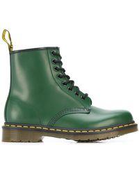 Dr. Martens Ботинки В Стиле Милитари На Шнуровке - Зеленый