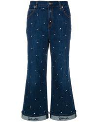 Vivetta - Embellished Cropped Flared Jeans - Lyst