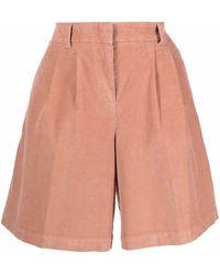 PT01 Pantalones cortos de pana acampanados - Rosa