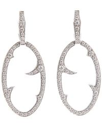 Stephen Webster - Diamond 'oval Thorn' Earrings - Lyst