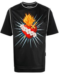 Palm Angels - Sacred Heart Tシャツ - Lyst