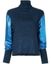 Cedric Charlier タートルネックセーター - ブルー