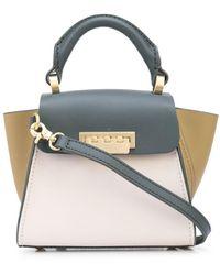 Zac Zac Posen Eartha Colour-block Mini Leather Tote Bag - Multicolour