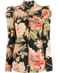 Zimmermann Блузка С Цветочным Принтом - Черный