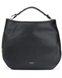 DKNY Bolso shopper hobo con detalle trenzado - Negro